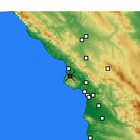 Nearby Forecast Locations - Los Osos - Χάρτης
