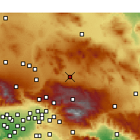 Nearby Forecast Locations - Lucerne Valley - Χάρτης