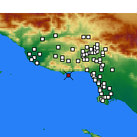 Nearby Forecast Locations - Malibu - Χάρτης