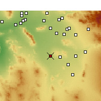 Nearby Forecast Locations - Maricopa - Χάρτης