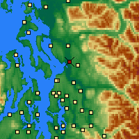 Nearby Forecast Locations - Marysville - Χάρτης