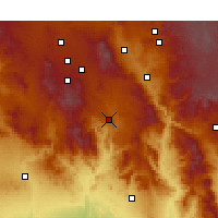 Nearby Forecast Locations - Mayer - Χάρτης