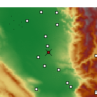 Nearby Forecast Locations - McFarland - Χάρτης