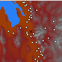Nearby Forecast Locations - Midvale - Χάρτης