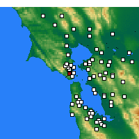Nearby Forecast Locations - Mill Valley - Χάρτης