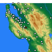 Nearby Forecast Locations - Milpitas - Χάρτης