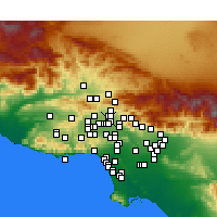 Nearby Forecast Locations - Mission Hills - Χάρτης