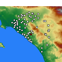 Nearby Forecast Locations - Mission Viejo - Χάρτης