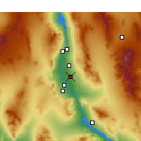 Nearby Forecast Locations - Mohave Valley - Χάρτης
