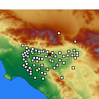 Nearby Forecast Locations - Montclair - Χάρτης
