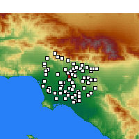 Nearby Forecast Locations - Monterey Park - Χάρτης