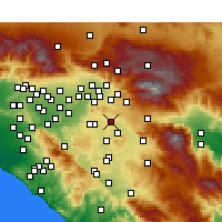 Nearby Forecast Locations - Moreno Valley - Χάρτης