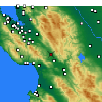 Nearby Forecast Locations - Morgan Hill - Χάρτης