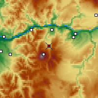 Nearby Forecast Locations - Mount Hood Parkda - Χάρτης