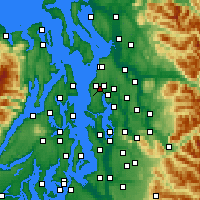 Nearby Forecast Locations - Mountlake Terrace - Χάρτης