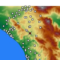 Nearby Forecast Locations - Murrieta - Χάρτης