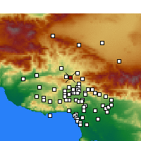 Nearby Forecast Locations - Newhall - Χάρτης