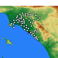 Nearby Forecast Locations - Newport Beach - Χάρτης
