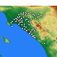 Nearby Forecast Locations - Newport Coast - Χάρτης