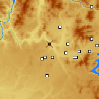 Nearby Forecast Locations - Nine Mile Falls - Χάρτης
