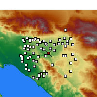 Nearby Forecast Locations - Norco - Χάρτης