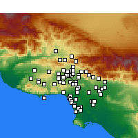 Nearby Forecast Locations - North Hills - Χάρτης