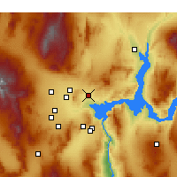 Nearby Forecast Locations - North Las Vegas - Χάρτης