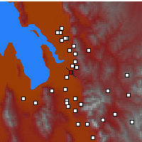 Nearby Forecast Locations - North Salt Lake - Χάρτης