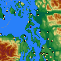 Nearby Forecast Locations - Oak Harbor - Χάρτης