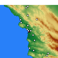 Nearby Forecast Locations - Oceano - Χάρτης