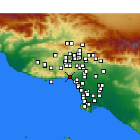 Nearby Forecast Locations - Pacific Palisades - Χάρτης