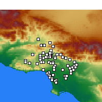 Nearby Forecast Locations - Pacoima - Χάρτης