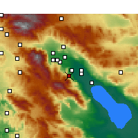 Nearby Forecast Locations - Palm Desert - Χάρτης
