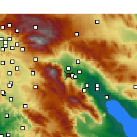 Nearby Forecast Locations - Palm Springs - Χάρτης