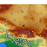 Nearby Forecast Locations - Lake Los Angeles - Χάρτης