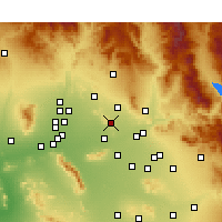 Nearby Forecast Locations - Paradise Valley - Χάρτης