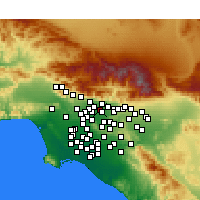 Nearby Forecast Locations - Pasadena - Χάρτης