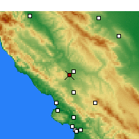 Nearby Forecast Locations - Paso Robles - Χάρτης