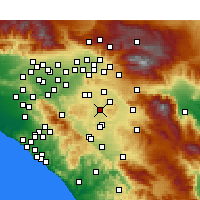 Nearby Forecast Locations - Perris - Χάρτης