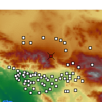 Nearby Forecast Locations - Phelan - Χάρτης