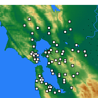 Nearby Forecast Locations - Pinole - Χάρτης