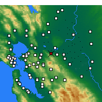 Nearby Forecast Locations - Pittsburg - Χάρτης