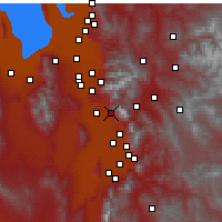Nearby Forecast Locations - Pleasant Grove - Χάρτης