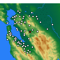 Nearby Forecast Locations - Pleasanton - Χάρτης