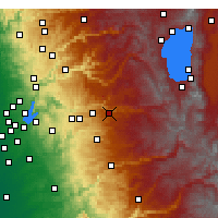 Nearby Forecast Locations - Pollock Pines - Χάρτης