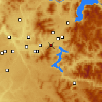 Nearby Forecast Locations - Post Falls - Χάρτης