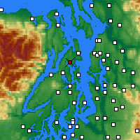 Nearby Forecast Locations - Poulsbo - Χάρτης