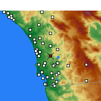Nearby Forecast Locations - Poway - Χάρτης
