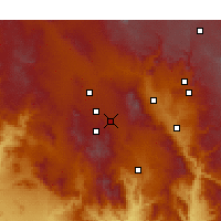 Nearby Forecast Locations - Prescott Valley - Χάρτης