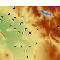 Nearby Forecast Locations - Queen Creek - Χάρτης